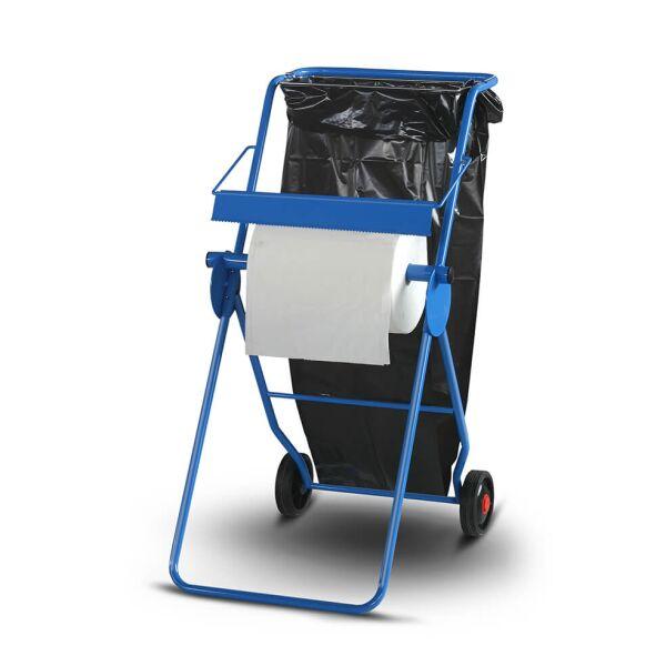 zetMatic - Bodenständer für Papierrollen bis 40cm Breite inkl. Müllsackhalterung