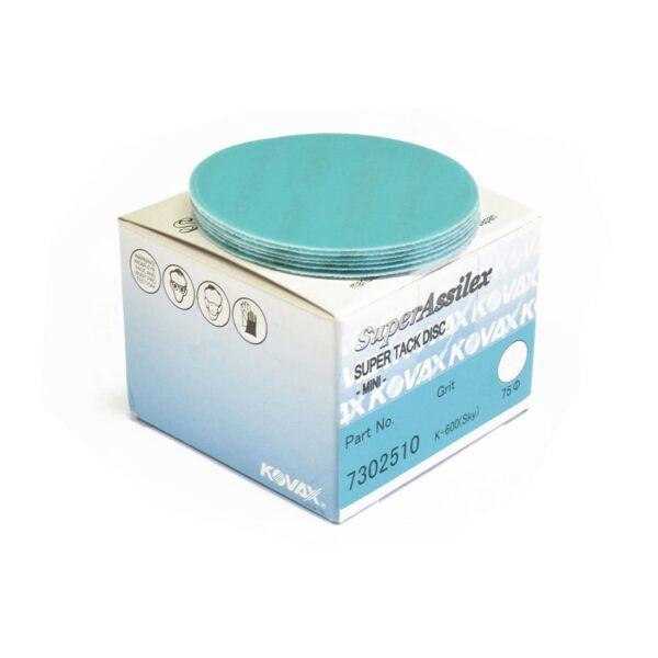 Kovax - Premium Super Assilex Super Tack Discs 75mm K600 - Sky 1 pcs