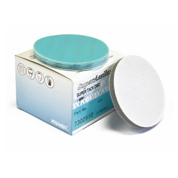 Kovax - Premium Super Assilex Super Tack Discs 75mm K600 - Sky 50 pcs