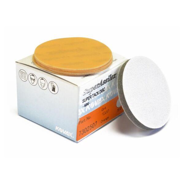 Kovax - Premium Super Assilex Super Tack Scheiben 75mm K1200 - Orange 50 Stk