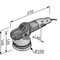 Flex - Roto random orbit polisher XFE 7-15 150 P-Set