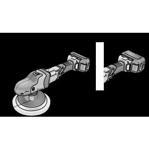 Flex - Akku-Rotationspolierer PE 150 18.0-EC/5.0 P-Set