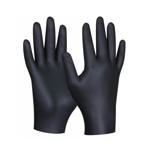 Gebol - Black Nitril Ultra Strong - powder-free - 80 pcs S