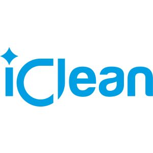 iClean - Logo Sticker Blue