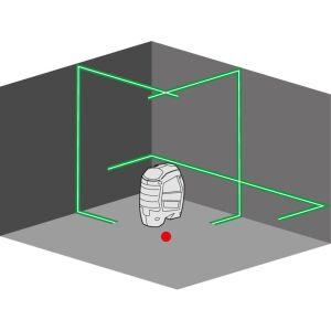 Flex - Selbstnivellierender Kreuzlinien-Laser ALC 3/1-G inkl. Stativ und Digitaler Wasserwaage