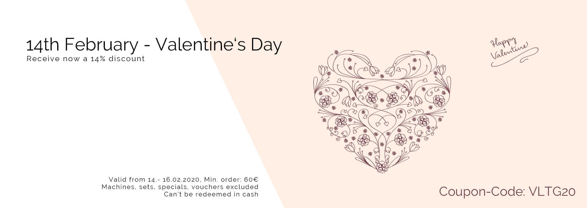 14% discount - happy valentines