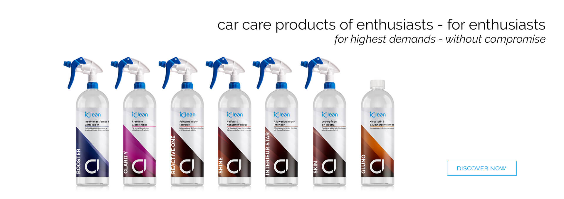 The all new iClean product line