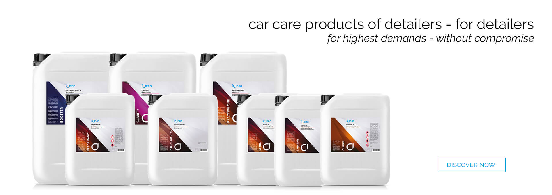The all new iClean product line for professio
